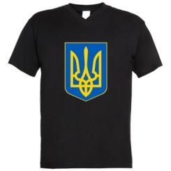 Купити Чоловічі футболки з V-подібним вирізом Герб неньки-України