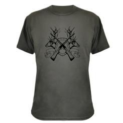 Камуфляжна футболка Герб Охотника