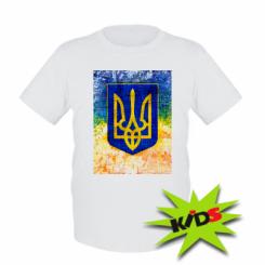 Дитяча футболка Герб України колір