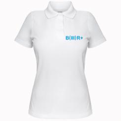 Жіноча футболка поло Група крові (3) В +