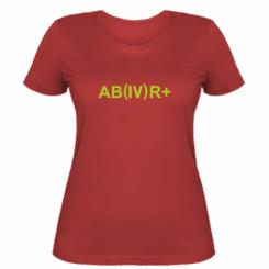 Жіноча футболка Група крові (4) АВ +
