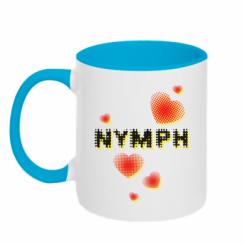 Кружка двокольорова Heart nymph