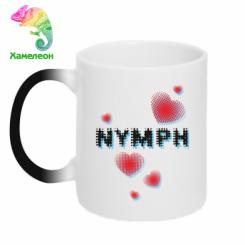 Кружка-хамелеон Heart nymph