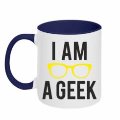 Кружка двокольорова I am a Geek