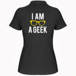 Жіноча футболка поло I am a Geek