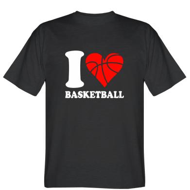 Футболка I love basketball