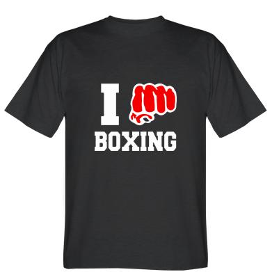Футболка I love boxing