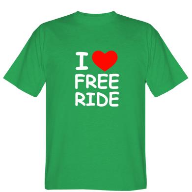 Футболка I love free ride