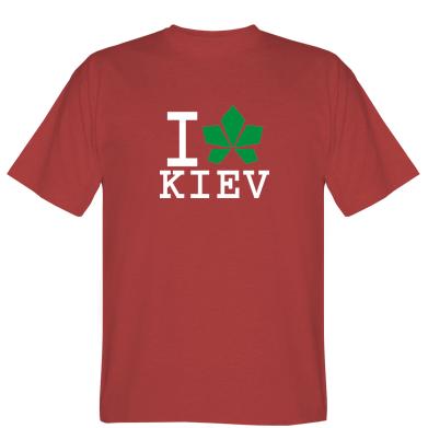 Футболка I love Kiev - з листком