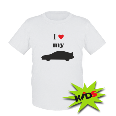 Дитяча футболка I love my car