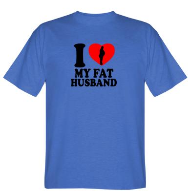 Футболка I love my fat husband