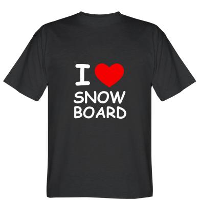 Футболка I love Snow Board