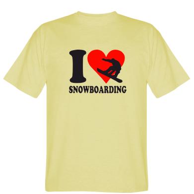Футболка I love snowboarding