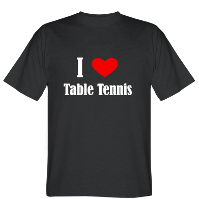 Футболка I love table tennis