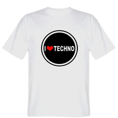 Футболка I love techno music