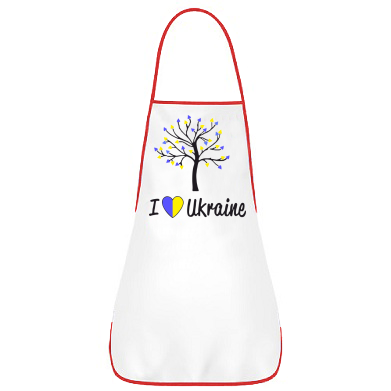Купити Фартуx I love Ukraine дерево