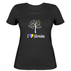 Купити Жіноча футболка I love Ukraine дерево