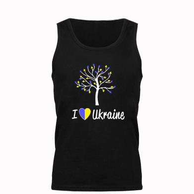 Купити Майка чоловіча I love Ukraine дерево