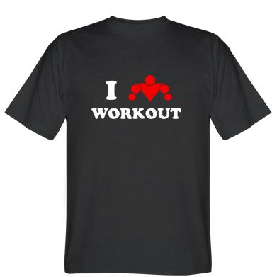 Футболка I love workout