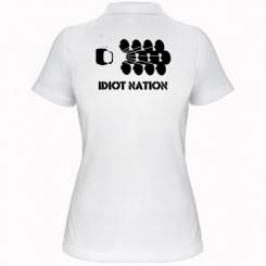 Жіноча футболка поло Idiot Nation