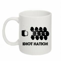 Кружка 320ml Idiot Nation