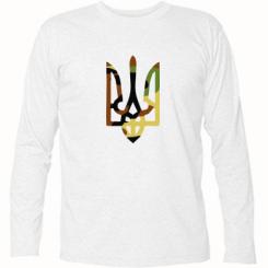 Купити Футболка з довгим рукавом Камуфляжний герб України