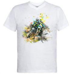 Чоловіча футболка з V-подібним вирізом Kawasaki Art