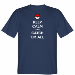 Футболка Keep Calm and Catch 'em all!