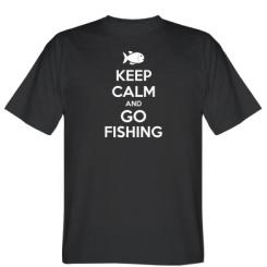 Футболка Keep Calm and go fishing