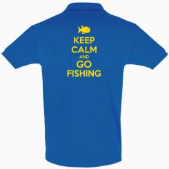 Футболка Поло Keep Calm and go fishing