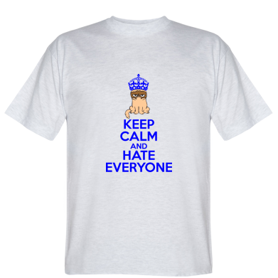 Футболка KEEP CALM and HATE EVERYONE