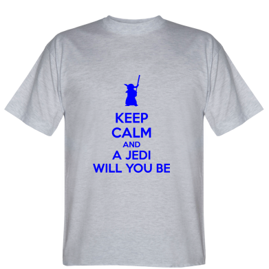 Футболка KEEP CALM and Jedi will you be
