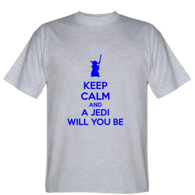 Футболка KEEP CALM and Jedi will you be
