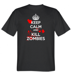 Футболка KEEP CALM and KILL ZOMBIES