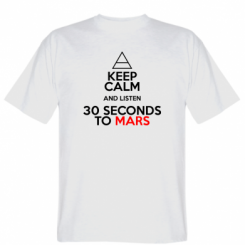 Футболка Keep Calm and listen 30 seconds to mars