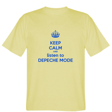 Футболка KEEP CALM and LISTEN to DEPECHE MODE