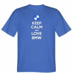 Футболка Keep Calm and Love BMW