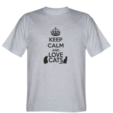 Футболка KEEP CALM and LOVE CATS