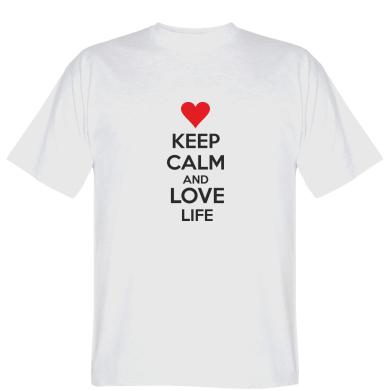 Футболка KEEP CALM and LOVE LIFE