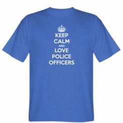 Футболка Keep Calm and Love police officers
