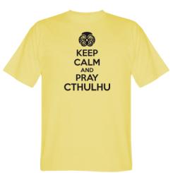 Футболка KEEP CALM AND PRAY CTHULHU