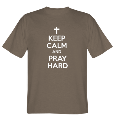 Футболка KEEP CALM and PRAY HARD