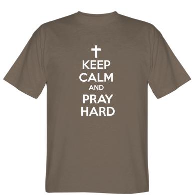 Футболка KEEP CALM and PRAY HARD