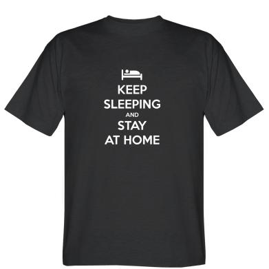 Футболка Keep sleeping and stay at home