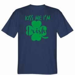 Футболка Kiss me, a am Irish