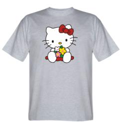 Футболка Kitty з букетиком