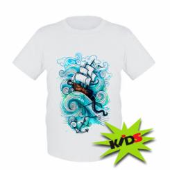 Дитяча футболка Корабель на хвилях
