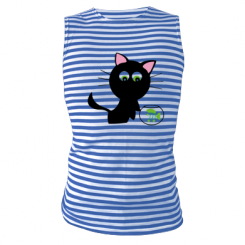 Купити Майка-тільняшка Кішечка і акваріум