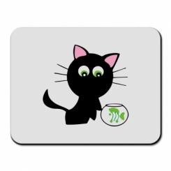 Купити Килимок для миші Кішечка і акваріум