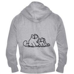 Чоловіча толстовка на блискавці Кіт і кошеня